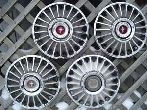 1967 67 FORD MUSTANG HUBCAPS WHEELCOVERS CENTER CAPS