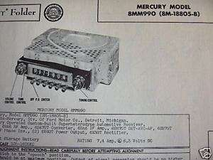 1949 MERCURY, 1948 1950 FORD TRUCK RADIO PHOTOFACT #2