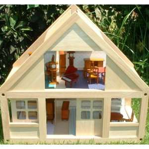 PLAN TOY DOLL HOUSE REAL WOOD BEAUTIFUL