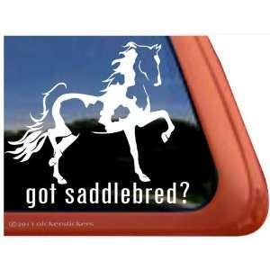 Pinto Saddlebred Horse Trailer Vinyl Window Decal Sticker Automotive