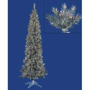 Pre Lit Silver Ashley Spruce Artificial Pencil Christmas Tree