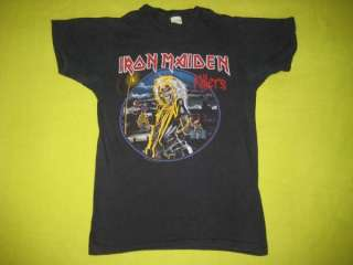 1981 IRON MAIDEN VINTAGE KILLERS PROMO T SHIRT tour OG